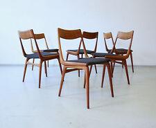 6 x 60er Boomerang Teck Chaises de salle à manger Slagelse Danish 60 S 6 x dining chairs