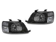 DEPO 97 98 99 00 01 Honda CRV CR-V JDM Black Clear Corner Headlights Set Pair