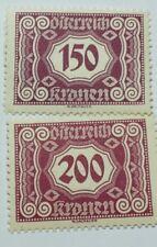 AUSTRIA J120 & J121-1922-1924 POSTAGE DUE-MINT/NEVER HINGED/ORIGINAL GUM