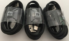 3x OEM Black Samsung Fast Charge USB Type-C Cable for Galaxy S8 Nexus 5/6 LG G5