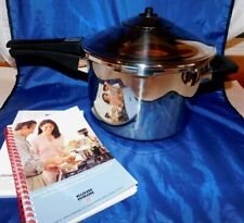 KUHN RIKON Swiss Made DUROMATIC 5.2 QUART PRESSURE COOKER Hardly Used w Books
