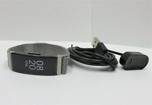 Fitbit Inspire HR Wireless Activity Tracker with Silver Mesh Band
