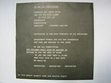"The Pop Group ‎– We Are All Prostitutes - Rough Trade ‎– RT 023 - 7"" Single Punk"