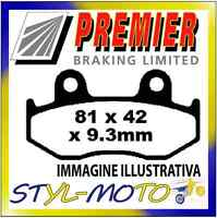 PASTIGLIE FRENI POSTERIORI ORGANICHE PREMIER YAMAHA YFM 700 RV/RW/ Raptor 2013