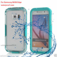 Transparent Water Resistant Mobile Phone Cases, Covers & Skins for Samsung Galaxy S6 edge
