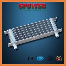 Universal 7 Row AN10 Engine Transmission 262mm Oil Cooler Trust Style Silver AU