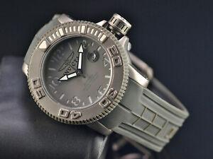 Invicta 1078 Sea Hunter Swiss Made SW200 Automatic SOLID TITANIUM Gray Watch