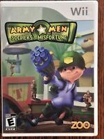 Army Men Soldiers of Misfortune Nintendo Wii 2009 Video Game from Zoo