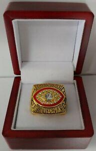 John Riggins - 1982 Washington Redskins Super Bowl Ring With Wooden Box