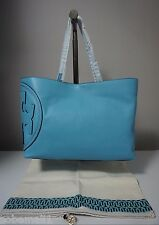 Tory Burch All T East/West Pebbled Leather Juniper Berry Tote Handbag
