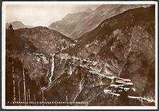"""""""Stradale dello Spluga e Cascata di Pianazzo"""" - viaggiata - 1937"""