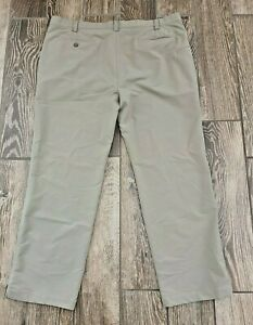 Under Armour Match Play Athletic Casual Golf Pants Tan Stretch Straight 42 X 30