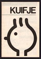 Kuifje - brochure van scenario ......tot album  - tentoonstelling 1990