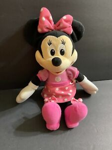 "Disney Minnie Mouse Talking Singing 13"" Plush Doll Sings Hot Diggity Dog Song"