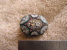 Vintage Antique Art Deco Micro Mosaic Pin  Beautiful