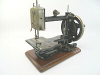 Antique Kimball & Morton 'So-All' Sewing Machine w/ Mother of Pearl & Carry Case