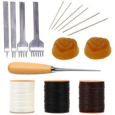 Leathercarft Sewing Tools  Thread Awl Waxed Thread Leather Prong Punch Needles
