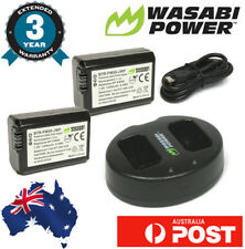 Wasabi Power 1300mAh Battery for Sony NP-FW50 (2-Pack) and Dual USB Charger