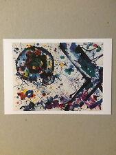 SAM FRANCIS, private view invitation card, Bernard Jacobson gallery, 2015