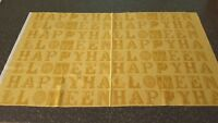 Sew Scary Panel J Wecker Frisch QT 23x44 Happy Halloween Letters Gold