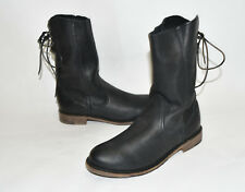 """New Vintage Boot Company """"Erin"""" Black Boots Size 7  Lace Up Made in USA"""