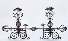 New listing Early 20th Century Swirled Hand-Wrought Iron Andirons Fireplace Set