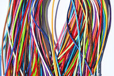 """Lot of (20) 18"""" (Mixed Colors) Nylon Waxed Cord Necklace #1"""