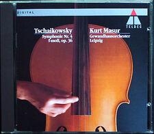 Kurt Masur: Tchaikovsky Symphony No. 4 veste casa Orchestra Lipsia Teldec CD 1991