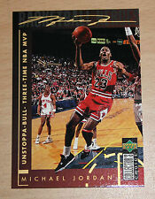 Michael Jordan 1994 Collector Choice THREE TIME NBA MVP GOLD SIGNATURE CARD