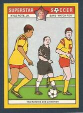 COLONIAL-SUPERSTAR SOCCER-1976- #10-THE REFEREE & LINESMEN