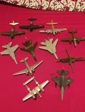 Vintage 10 Model Airplanes & 1 Helicopter AS IS Read Discription F-14, F16, More