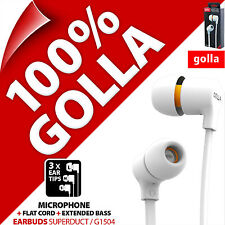 Golla Auriculares superduct Blanco Auricular In-ear para mp3 ipod iphone 5s 6s