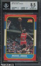 1986 Fleer 357 Michael Jordan Chicago Bulls RC Rookie HOF BGS 8.5 w/ (2) 9's