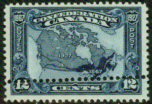 CANADA– 1927– # 145 CONFEDERATION HOR. DOUBLE PERFS.- VF**