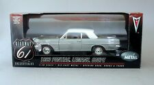 1:18 Highway 61 1963 Pontiac Lemans Sport Coupe - Silver & White