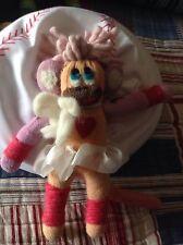 Ballerina Alpaca Sock Monkey Handmade In Peru By Lanart