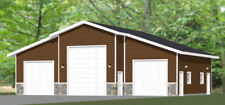 50x42 2-Car 1-RV Garage - PDF FloorPlan - 1,909 sqft - Model 2
