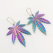 The Psychedelic Cannabis Leaf Earrings Pot Leaf Earrings Marijuana Earrings