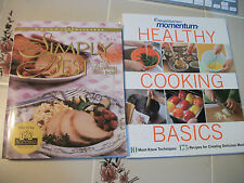 lot of 2 x WEIGHT WATCHERS cookbooks  Simply the Best   Momentum Healthy cooking