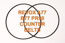 COUNTER BELTS REVOX A77  B77 PR99 REEL TO REEL EXTRA STRONG NEW A 77 B 77 PR 99