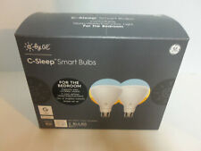 NEW - GE C-Sleep Smart Bulbs BR30 Bluetooth Smart Dimmable LED Light Bulb 2Pack