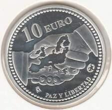Spanje 10 euro 2005 Proof zilver PP: Vrede en Vrijheid in Europa