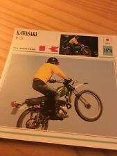 Kawasaki KS125 1974 ks 125 Carte moto Collection Atlas Japon 125KS