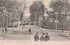 Carte Postale ancienne Bourges ( Cher ) L'Avenue de la Gare