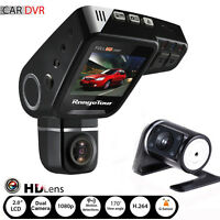 Dual Lens Car Dashboard DVR Video HD 1080P Recorder Dash Cam G-Sensor + Camera