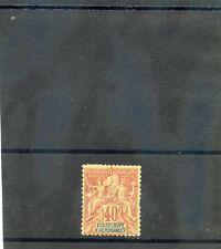 GUADELOUPE Sc 40(YT 36)*F-VF OG 1892 40c RED ORANGE $60