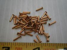 """Stimpson A2078 Flat flange eyelet .061 OD  .296"""" L brass copper lot of 30 #1130"""