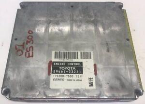 01 2001 Lexus ES300 3.0 A/T ECM ECU Engine Computer Module | 89666-33221