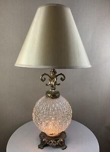 Vintage Mid Century Modern Retro Brutalist - Ef & Ef - Light Up Base Table Lamp