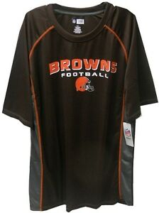 Cleveland Browns NFL Mens Synthetic Fast Action Shirt  Brown Big & Tall Sizes